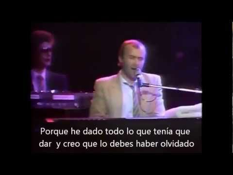 "Phil Collins "" I cannot believe it's true"" (LIVE, 1982) SUBTITULADO AL E..."