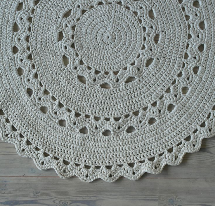Round crocheted rug. Good job my friend.