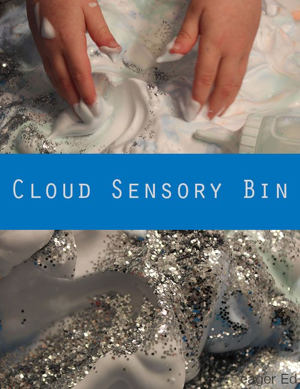C is for Cloud Sensory Bin   We explore clouds in this foamy, fun sensory activity.   eager Ed