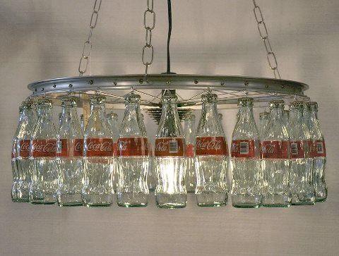 glass coke bottle lamp