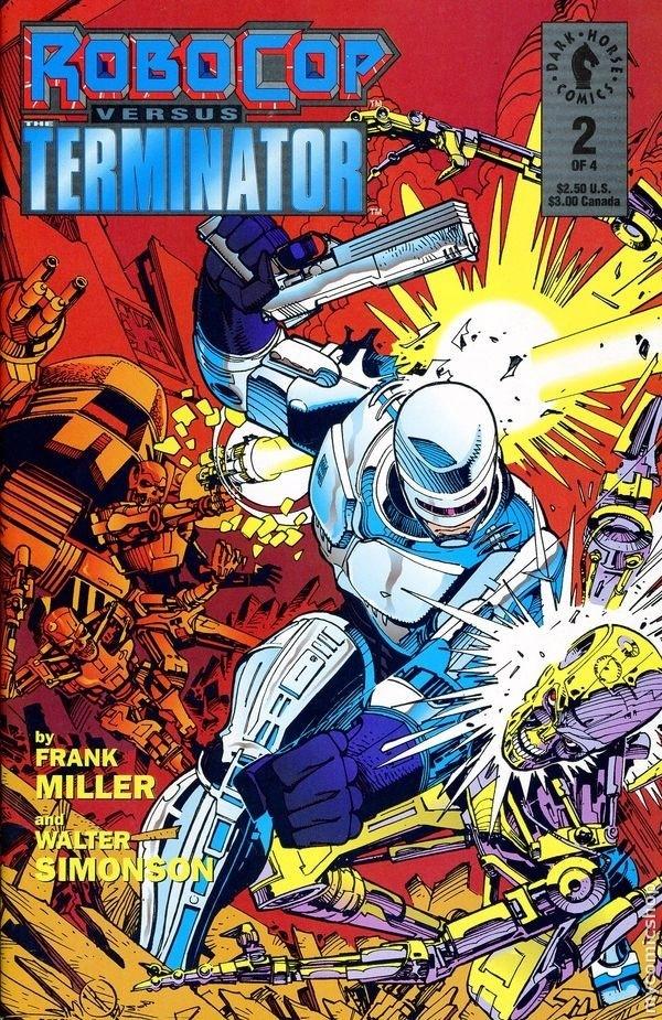 ROBOCOP VS. TERMINATOR #1 cover by Walt Simomson
