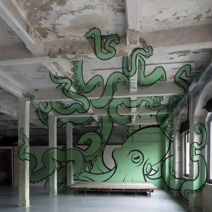 Truly Design - Octopus Anamorph @ Samo - 2015.02.16  http://articalillusion.altervista.org/truly-design/