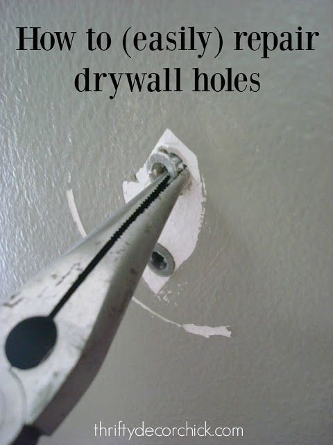 How to easily patch holes left by anchors!