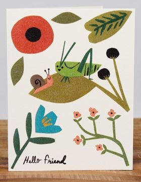 Hello Friend | Red Cap Cards illustrated greeting card by Christian Robinson