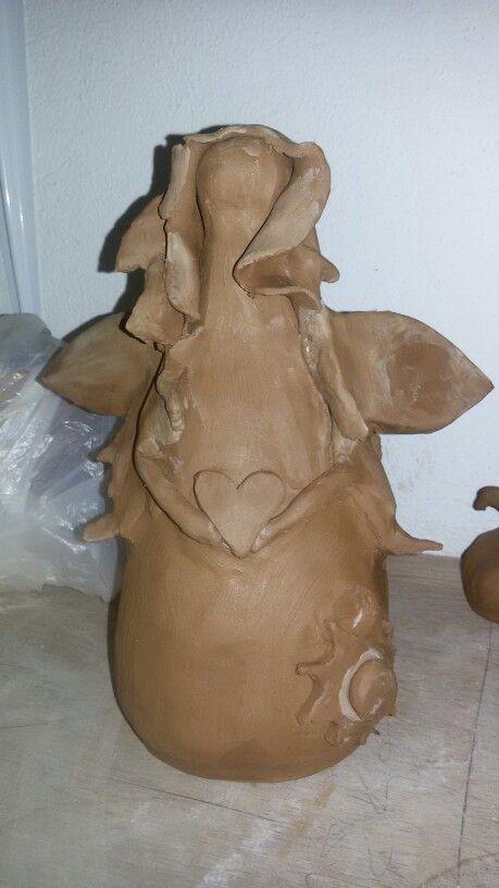 #ceramic #pottery #angel #handmade