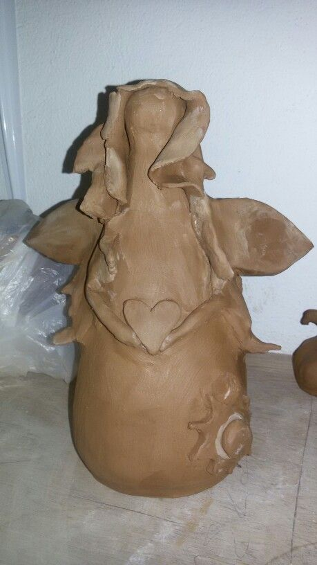 #ceramic #pottery #angel #handmade