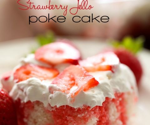 Strawberry Jello Poke Cake. Mom alwats made this in the summer