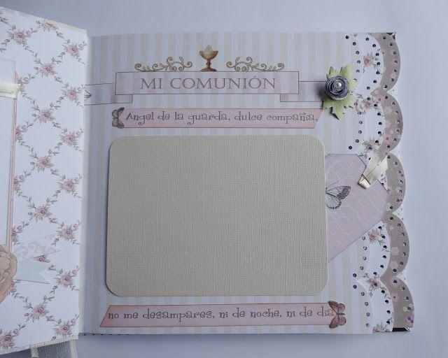 Libro de Firmas para Comunión de Niña con papeles de Dayka.