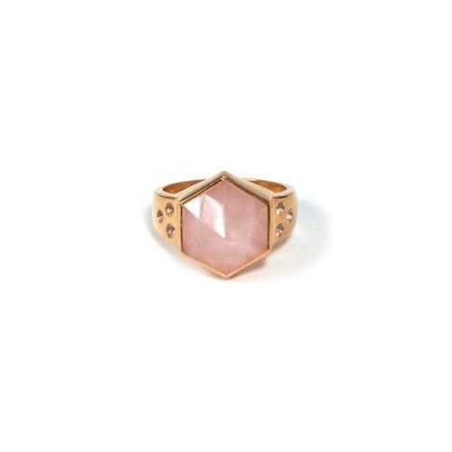 Rose Quartz Ring (SR) Gold