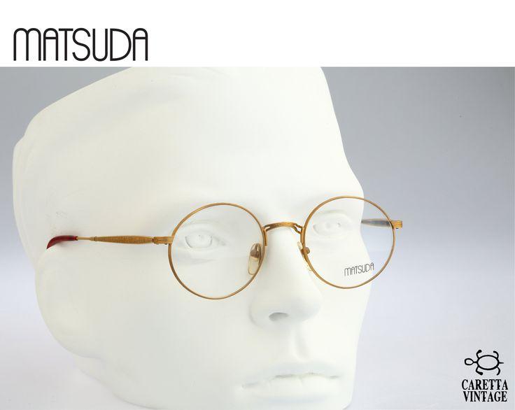 Vintage round eyeglasses, Matsuda 2803, 90s circle optical frame / NOS – Vintage eyeglasses frames