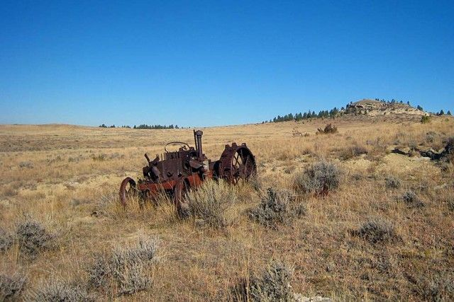 This old tractor sitting by what is called the Cook Camp has always intrigued me. There are a few old tractors laying around these hills but this one has always fascinated me. Taken 10/16/2007.