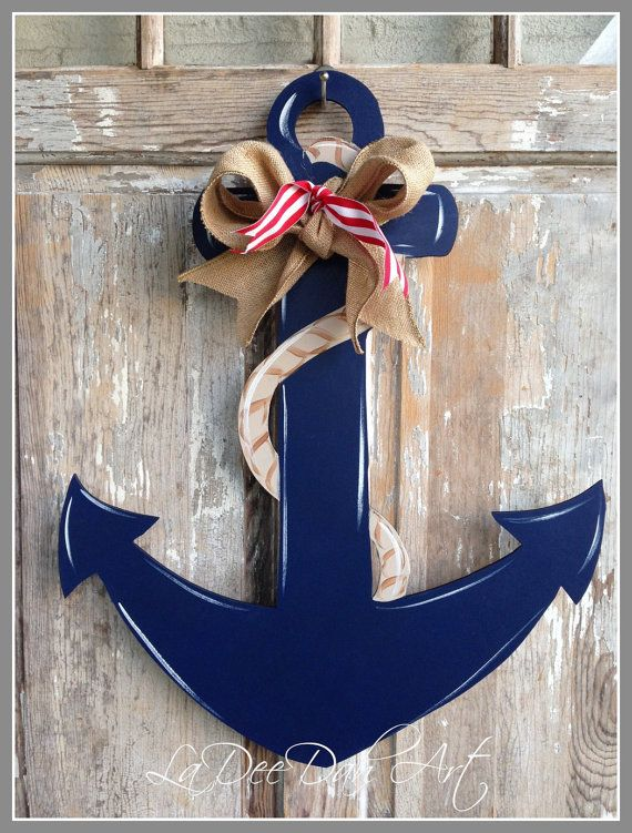 Anchor Door Decor Wood Art Anchor Anchor Door by ladeedahart