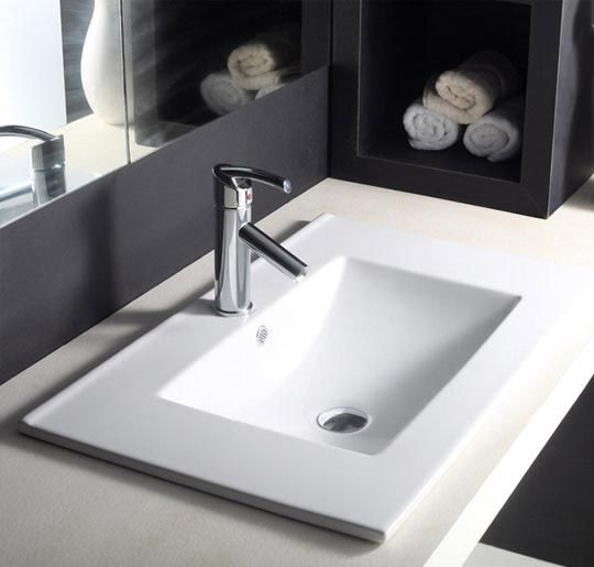 Buy Hindware Topaz Counter Top Self Rimming Basins-91028 in Washbasins through online at NirmanKart.com