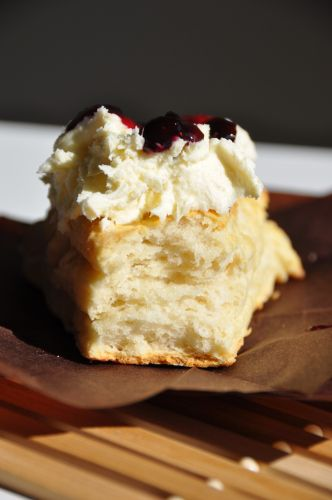 buttermilk scone with clotted cream