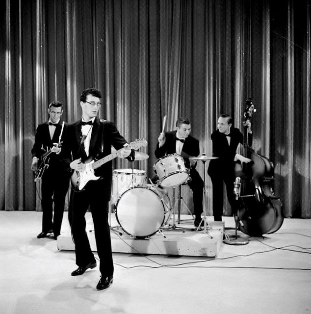 Buddy Holly & The Crickets. The first true legendary band in rock history, in my opinion. Tragically taken away from us far too early. Holly and his band inspired so many of the next generation of rock legends including The Beatles, who named their own band in honor of the Crickets.