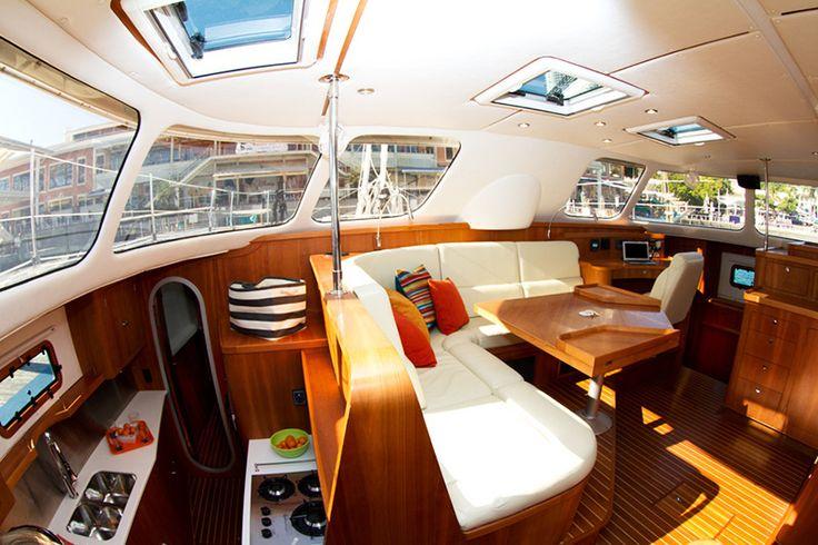 Antares 44 Catamaran Interior Pictures | Sailing in 2019 | Sailboat interior, Boat interior ...