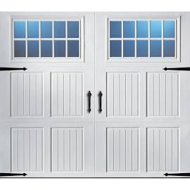 Classica 3000 Tuscany Garage Door White 9 X 7 Madeira Window White Garage Doors Garage Door Windows Carriage House Garage Doors