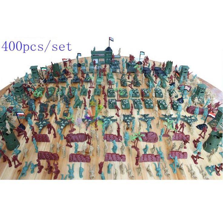 Free shipping 400pcs/set nostalgic model of World War II soldiers, Plastics Military Model Kit boys toys birthday Christmas gift