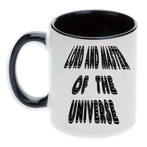 Ceramic mug Lord and Master... by MargoMagicJewel on Etsy