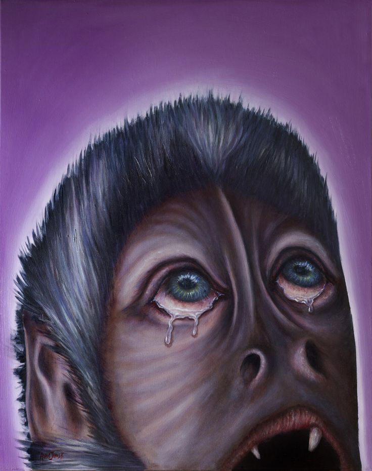 A beautiful painting that disputes the belief of many scientists... that animals don't feel real emotion.