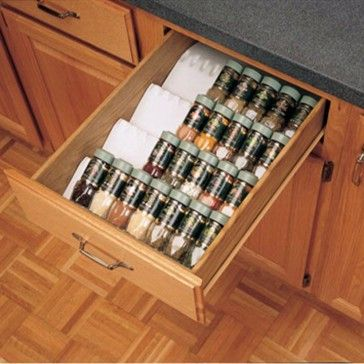 Kitchen Drawer Organizer Spice Tray Insert, Rev-a-Shelf ST50 Series - Rockler Woodworking Tools