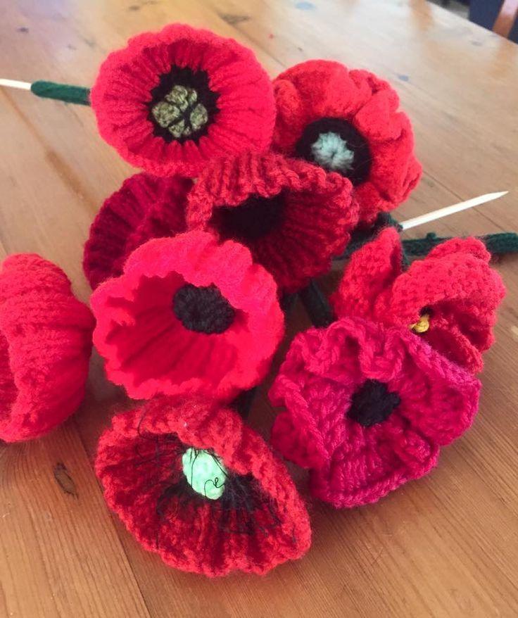 PATTERNS | Crochet poppy, Knitted poppy free pattern ...