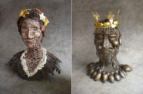 современное искусство - скульптуры из металлолома