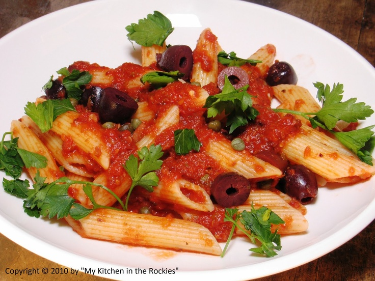 Italian food - Penne alla puttanesca