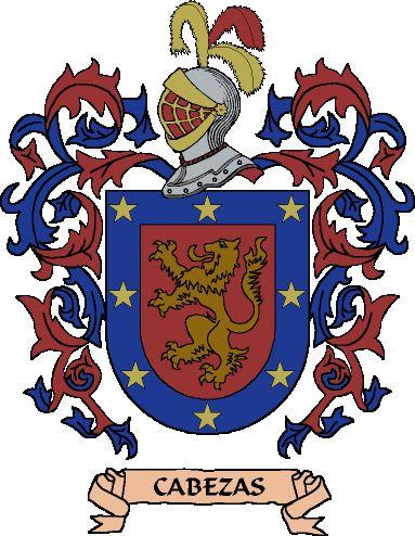 escudos de armas de apellidos - Cabezas.