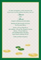 Wedding Invitations As the leaves Float Lime Green Wedding