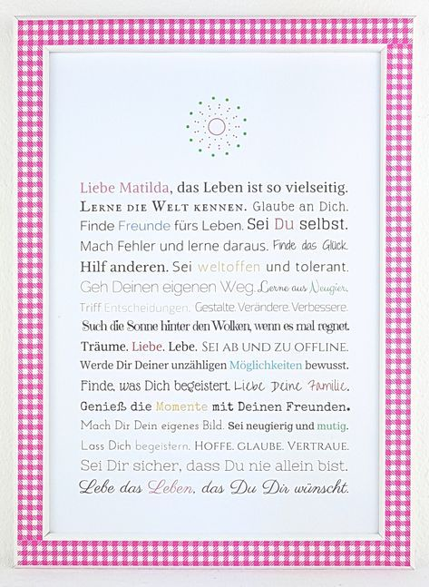 Cadeau eerste communie / Jugendweihe meisje #konfirmation #erstkommunion #juge …  – Dekoration