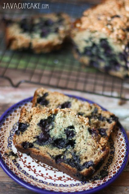 Blueberry Banana Bread - Kick your banana bread up a notch with the addition of juicy blueberries! | JavaCupcake.com