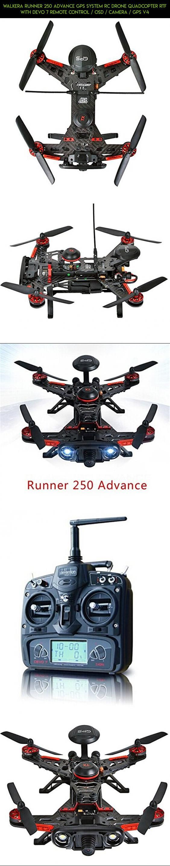 Walkera Runner 250 Advance GPS System RC Drone Quadcopter RTF with DEVO 7 Remote Control / OSD / Camera / GPS V4 #fpv #drone #technology #racing #kit #gadgets #drone #products #tech #plans #walkera #camera #parts #shopping