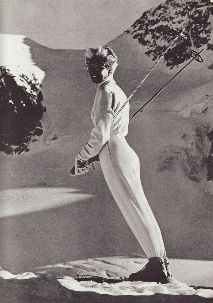 The great German Nordic skier Willy Bogner Sr. designed the first stretch ski pants in 1948 for ...