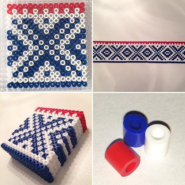 Marius pattern coaster set hama beads by alida.helene.nesse