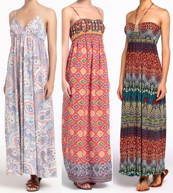 vestidos largos estampados - moda verano 2013 vestidos largos ...