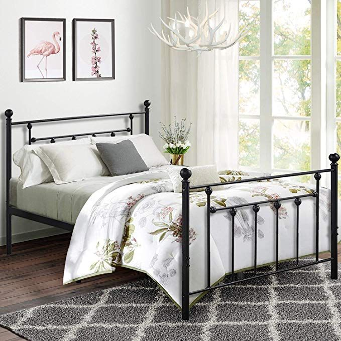 Amazon Com Premium Full Size Bed Frame Vecelo Metal Platform