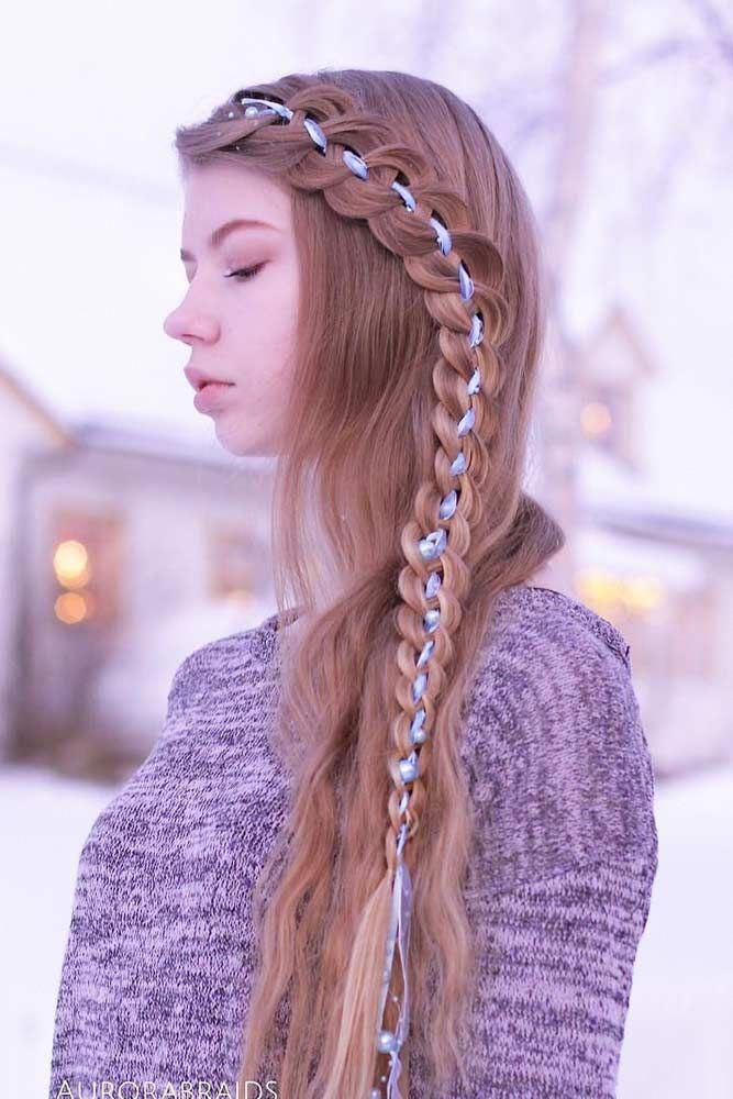 Long Straight Hairstyles With Side Braid  ...
