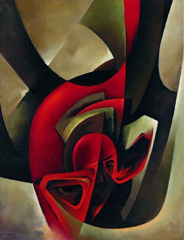 Tullio Crali (Italian, Futurism, 1910-2000) In Free Fall (In Caduta Libera), 1964 oil on canvas