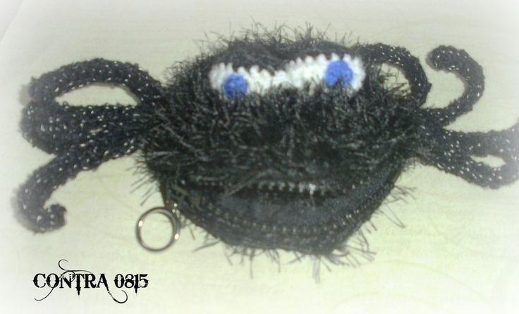Spinne schwarze Witwe Geldbörse von contra08/15 auf DaWanda.com