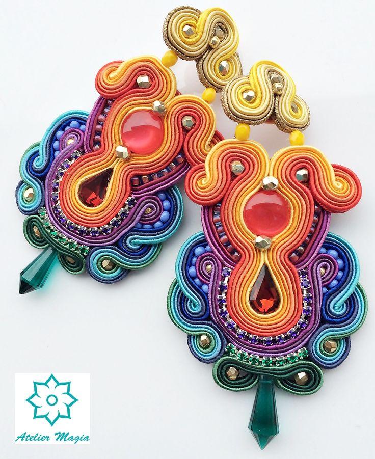 soutache earrings - Atelier Magia by Katarzyna Wysocka