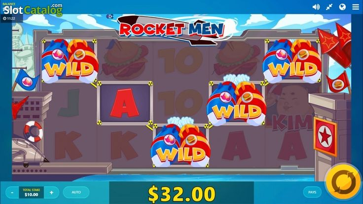Kim's little game win screen . Rocket Man(Video SlotfromRed Tiger)