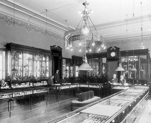Inside Faberge shop, St Petersburg ~ just imagine Russian aristocrats choosing jewelry here!