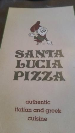 Menu cover, Santa Lucia Pizza Winnipeg  |  4 St Mary's Rd, Winnipeg, Manitoba, Canada