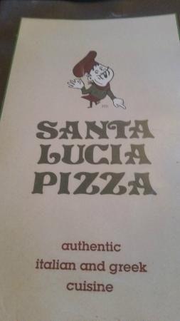 Menu cover, Santa Lucia Pizza Winnipeg  |  4 St Mary's Rd, Winnipeg, Manitoba, Canada