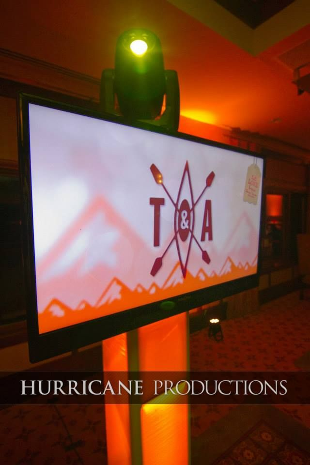 Screen Animations On A Wedding Dj Entertainment Setup Really Personalize The Event And Add Dimension To