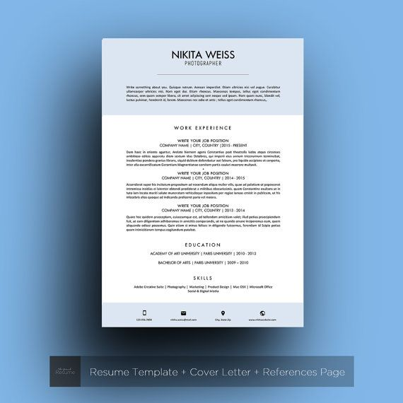 15 best Creative Resume Templates images on Pinterest Creative - microsoft word references template
