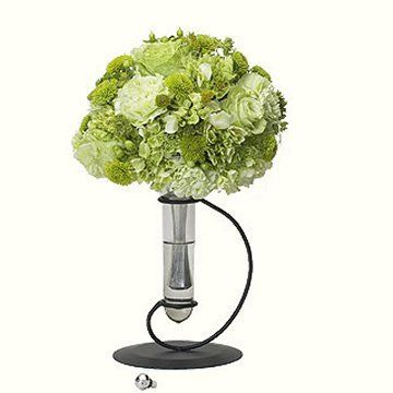 Freestanding bouquet holder... perfect for hand-tied bouquets that need to be in water at the reception. Great little vase for the home afterwards too... bridesmaid gift?