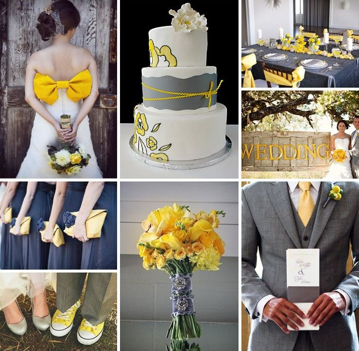purple yellow gray wedding colors - Picture Ideas References