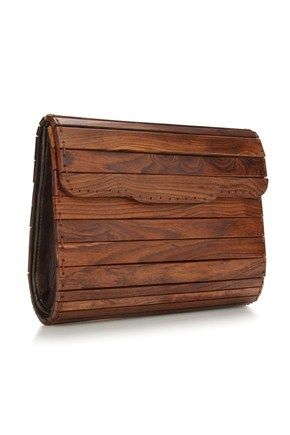 Wooden clutch. Love the simplicity